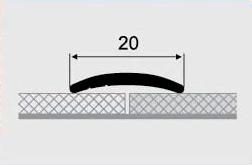 Порожки алюминиевые 10-А с открытым монтажем
