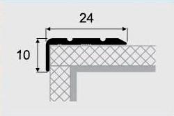 Угловой профиль 12-А (24х10) алюминиевый