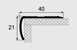 Угловой профиль 14-А (40х21) алюминиевый