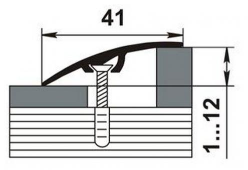Порожки разноуровневые алюминиевые 15-А со скрытым монтажем