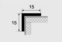 Угловой профиль 15х15 алюминиевый