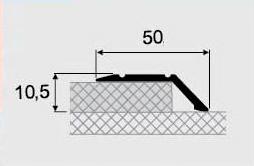 Порожки разноуровневые алюминиевые 18-А с открытым монтажем