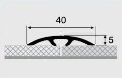Порожки алюминиевые 19-А со скрытым монтажем