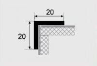 Угловой профиль 20х20 алюминиевый