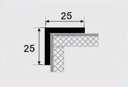 Угловой профиль 25х25 алюминиевый