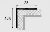 Угловой профиль 3-А (23х18,8) алюминиевый