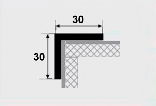 Угловой профиль 30х30 алюминиевый