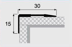 Угловой профиль 4-А (30х15) алюминиевый