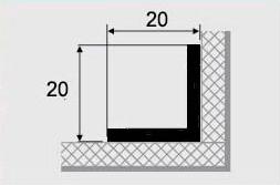 Угловой профиль 9-А (20х20) алюминиевый