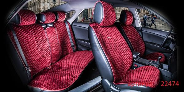 Накидки на передние и задние сиденья автомобиля Carfashion модель City Plus (22474)