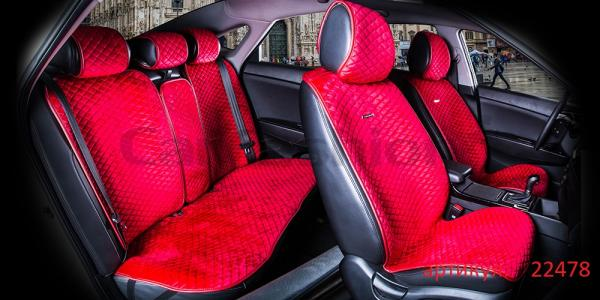 Накидки на передние и задние сиденья автомобиля Carfashion модель City Plus (22478)