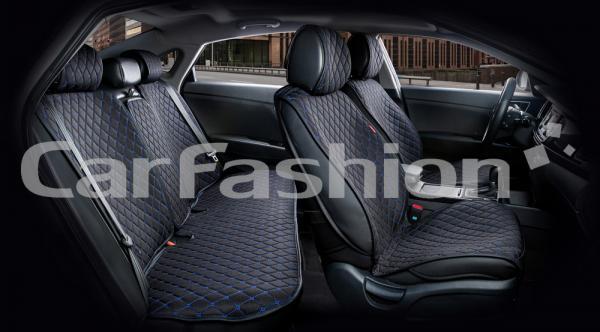 Накидки на передние и задние сиденья автомобиля Carfashion модель Crown (22624)