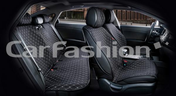 Накидки на передние и задние сиденья автомобиля Carfashion модель Crown (22625)