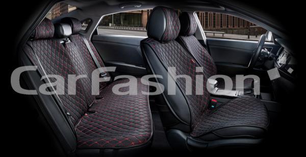Накидки на передние и задние сиденья автомобиля Carfashion модель Crown (22626)