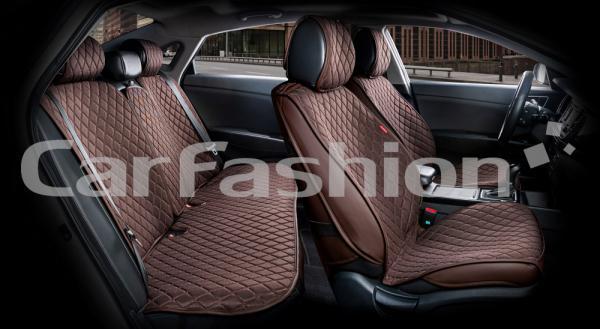 Накидки на передние и задние сиденья автомобиля Carfashion модель Crown (22627)