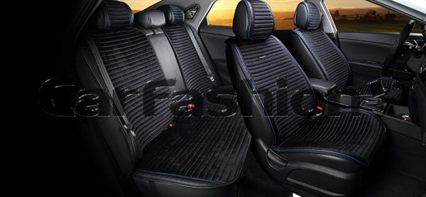 Накидки на передние и задние сиденья автомобиля Carfashion модель Monaco Plus (21825)