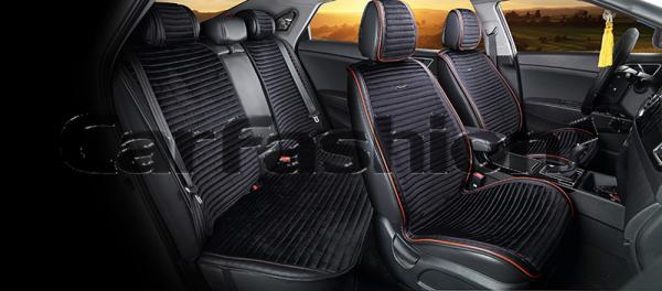 Накидки на передние и задние сиденья автомобиля Carfashion модель Monaco Plus (21829)