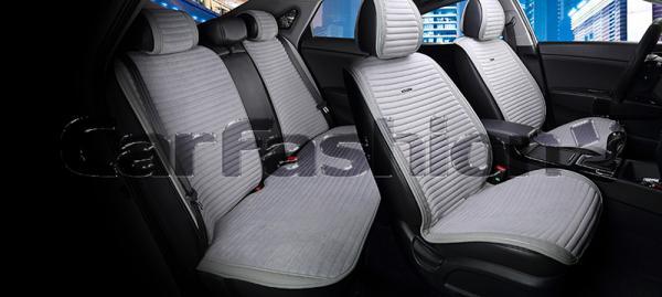 Накидки на передние и задние сиденья автомобиля Carfashion модель Monaco Plus (21831)