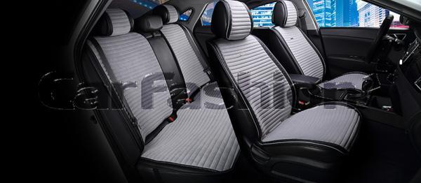 Накидки на передние и задние сиденья автомобиля Carfashion модель Monaco Plus (21832)