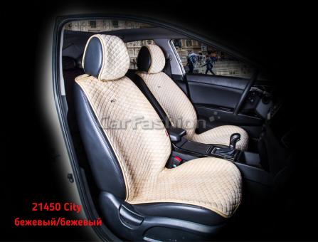 Накидки на передние сиденья автомобиля Carfashion модель City Front (21450)