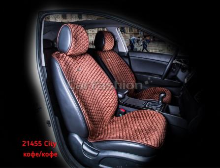 Накидки на передние сиденья автомобиля Carfashion модель City Front (21455)