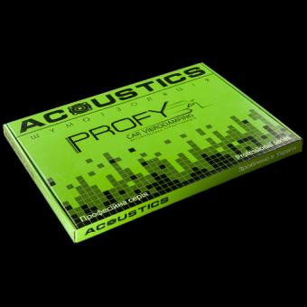 Виброизоляция для автомобиля Acoustics Profy 4,0мм лист 370х500мм