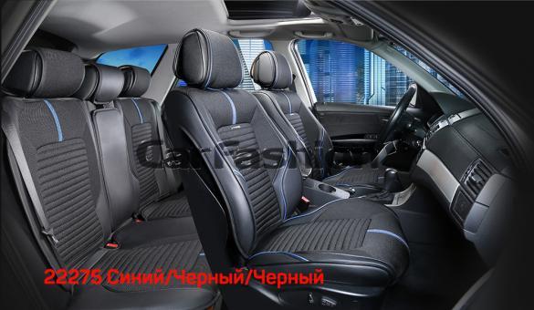 Универсальные 3D авточехлы на передние и задние сиденья Carfashion модель Sector Plus (22275)