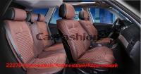 Универсальные 3D авточехлы на передние и задние сиденья Carfashion модель Sector Plus (22276)