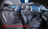 Универсальные 3D авточехлы на передние и задние сиденья Carfashion модель Sector Plus (22278)