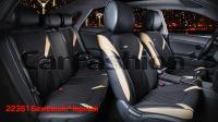 Универсальные 3D авточехлы на передние и задние сиденья Carfashion модель Sting Plus (22351)