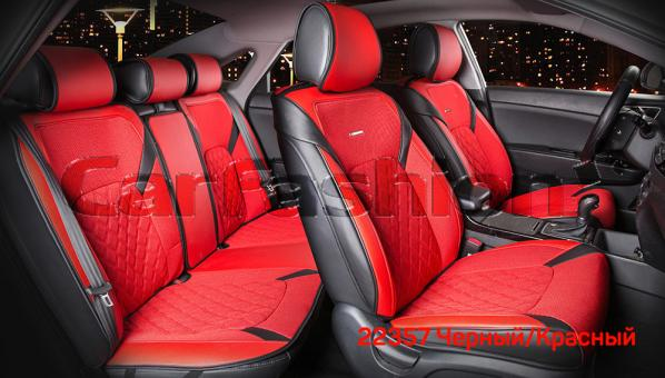 Универсальные 3D авточехлы на передние и задние сиденья Carfashion модель Sting Plus (22357)