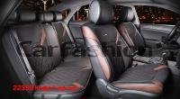 Универсальные 3D авточехлы на передние и задние сиденья Carfashion модель Sting Plus (22359)
