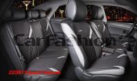 Универсальные 3D авточехлы на передние и задние сиденья Carfashion модель Sting Plus (22361)