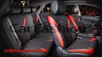Универсальные 3D авточехлы на передние и задние сиденья Carfashion модель Sting Plus (22363)