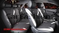 Универсальные 3D авточехлы на передние и задние сиденья Carfashion модель Sting Plus (22364)