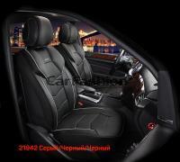 Универсальные 3D авточехлы на передние сиденья Carfashion модель Samurai Front (21942)