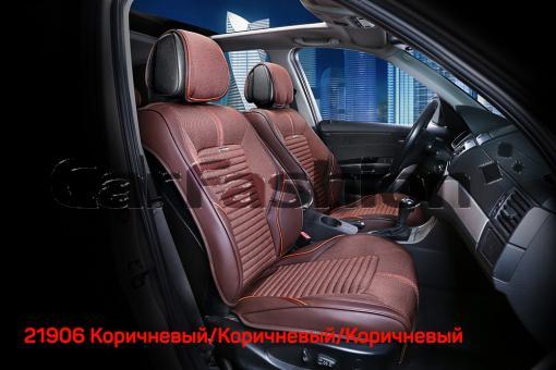Универсальные 3D авточехлы на передние сиденья Carfashion модель Sector Front (21906)