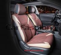 Универсальные 3D авточехлы на передние сиденья Carfashion модель Sting Front (21952)