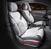 Универсальные 3D авточехлы на передние сиденья Carfashion модель Sting Front (21956)
