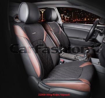 Универсальные 3D авточехлы на передние сиденья Carfashion модель Sting Front (21959)