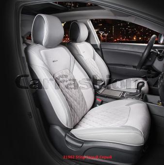 Универсальные 3D авточехлы на передние сиденья Carfashion модель Sting Front (21962)