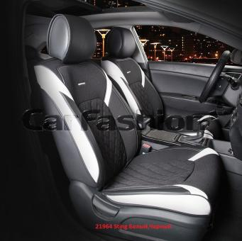 Универсальные 3D авточехлы на передние сиденья Carfashion модель Sting Front (21964)