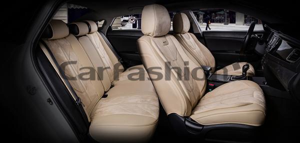 Универсальные 5D авточехлы на передние и задние сиденья Carfashion модель Start Plus (22132)