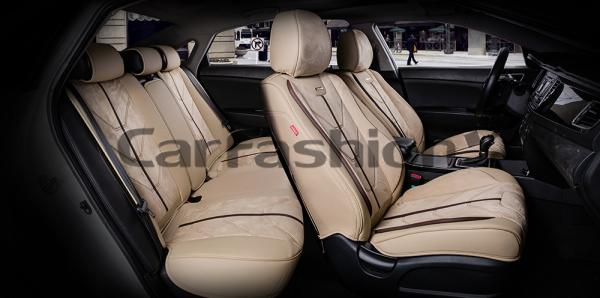Универсальные 5D авточехлы на передние и задние сиденья Carfashion модель Start Plus (22133)
