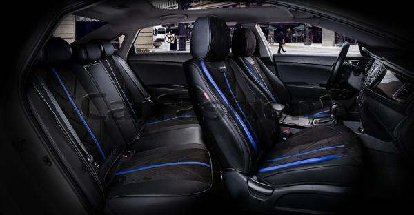 Универсальные 5D авточехлы на передние и задние сиденья Carfashion модель Start Plus (22136)
