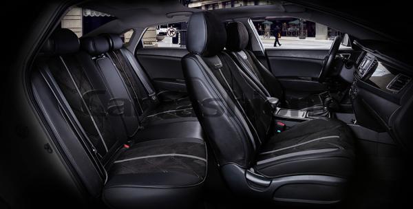 Универсальные 5D авточехлы на передние и задние сиденья Carfashion модель Start Plus (22137)