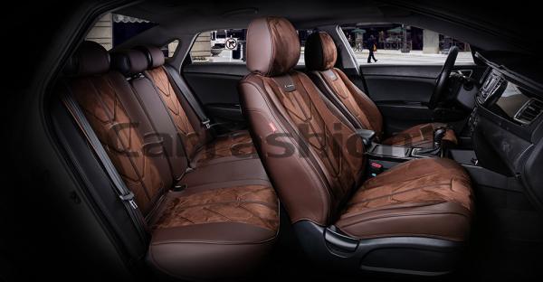 Универсальные 5D авточехлы на передние и задние сиденья Carfashion модель Start Plus (22297)