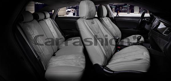 Универсальные 5D авточехлы на передние и задние сиденья Carfashion модель Start Plus (22299)