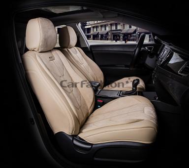Универсальные 5D авточехлы на передние сиденья Carfashion модель Start Front (21062)
