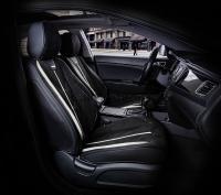 Универсальные 5D авточехлы на передние сиденья Carfashion модель Start Front (21064)